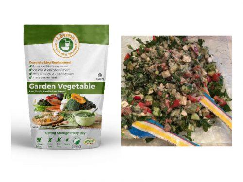 chopped salad with tehina zaatar